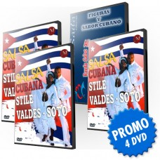 VIDEO SALSA CUBANA VALDES - 4 DVD