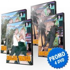 OFFERTA SALSATANGO BACHATANGO - 4 DVD